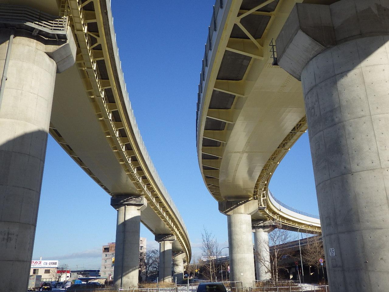 道央自動車道 札幌JCT Cランプ橋塗替塗装工事