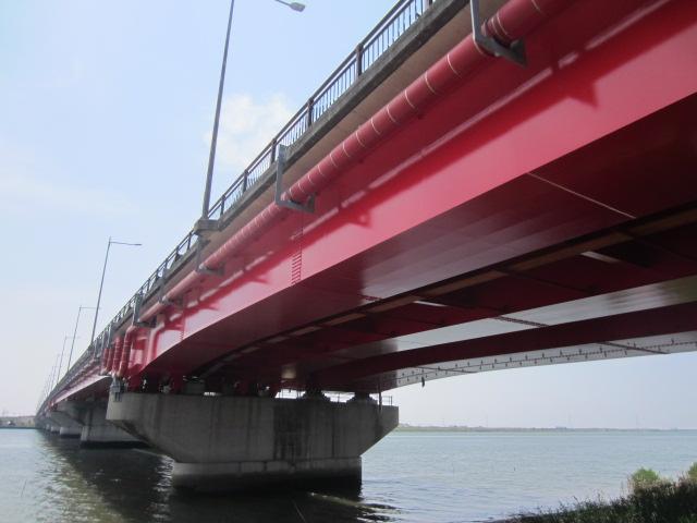 橋梁修繕工事の内塗替塗装工