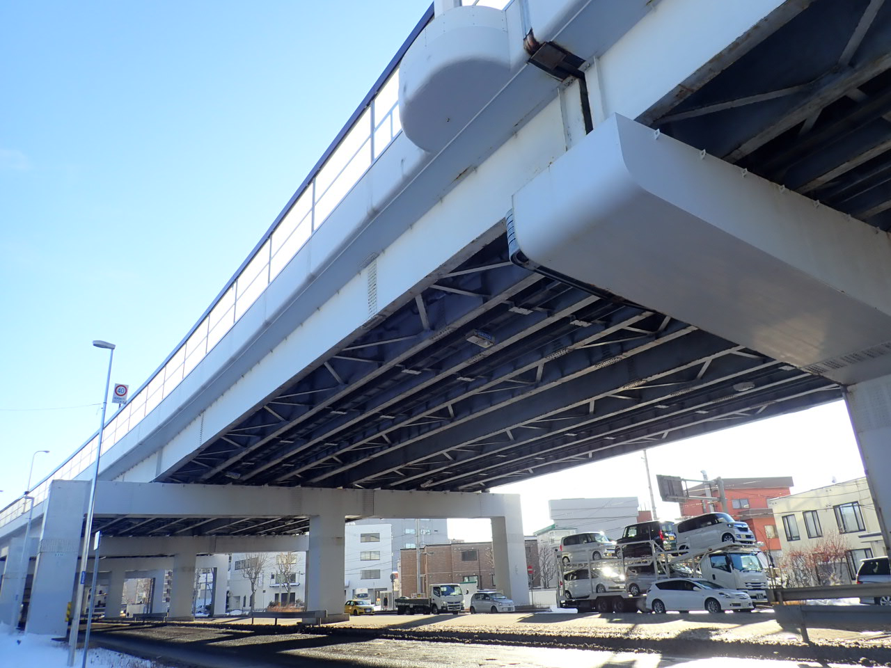 札樽自動車道 創成川西高架橋塗替塗装工事