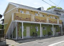 アスリート柊様 アパート外壁塗替工事(施工後・前)