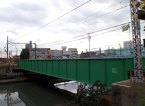 常滑線 (神宮前~豊田本町駅間)精進川橋梁